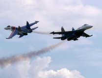 A pair of Su-27s (Getty Images, file, illustration purposes)