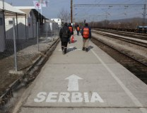 Migrants cross from Macedonia to Serbia (Tanjug/AP)