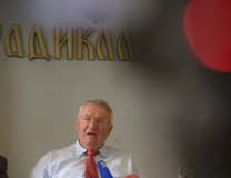 Seselj is seen during the news conference on Thursday (Tanjug)