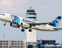 An August 21, 2015 photo of EgyptAir Airbus A320, registration SU-GCC, taking off in Vienna (Tanjug/AP)