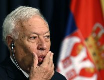 Jose Manuel Garcia-Margallo seen in Belgrade on Wednesday (Tanjug)