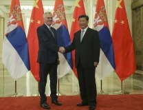 Nikolic and Xi are seen during a past meeting (Tanjug, file)