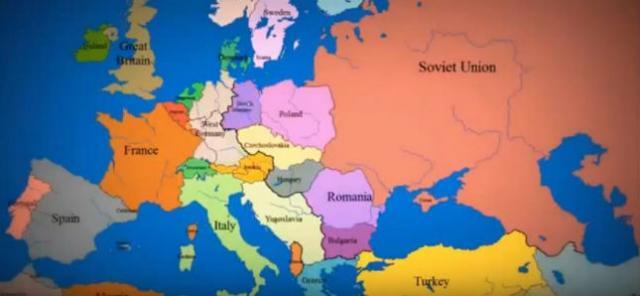 mapa centralne evrope Kako su se granice Evrope menjale u poslednjih 1000 godina /VIDEO  mapa centralne evrope