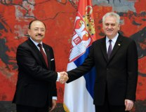 The president is seen with Mexico's new top diplomat in Belgrade (Tanjug)