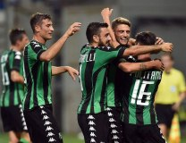 The Sassuolo team celebrate (Getty Images)