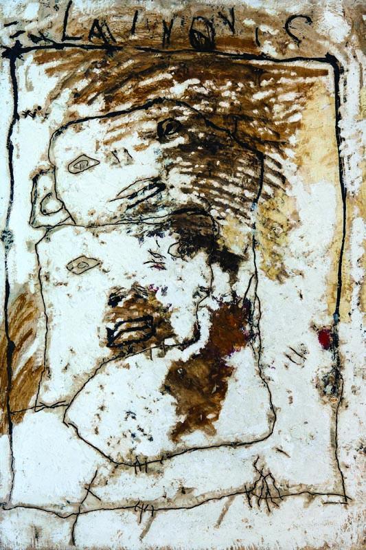 Kompozicija, ulje na lesonitu, 92x61