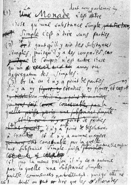 Lajbnicov rukopis Monadologije (Foto: Wikimedia Commons)