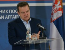 Dacic addresses the news conference on Thursday (Tanjug)