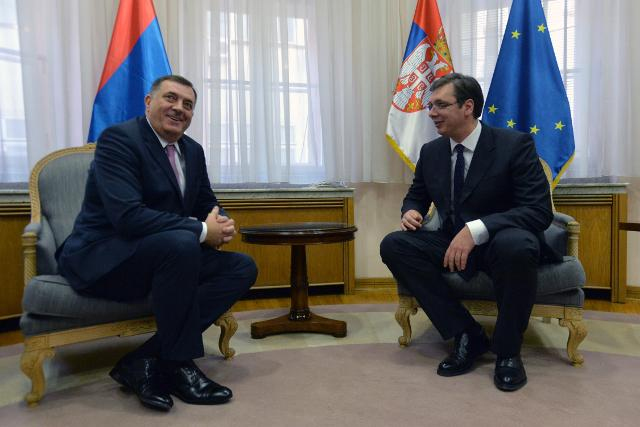 Dodik and Vucic meeting on Thursday (Tanjug)