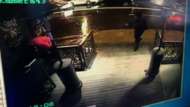 Chilling Video Shows Gunman Opening Fire Outside Istanbul Nightclub