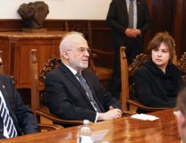 Al-Jaafari is seen in Belgrade on Thursday (Tanjug)