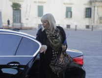 Jadranka Joksimovic is seen in Valetta on Tuesday (Tanjug)