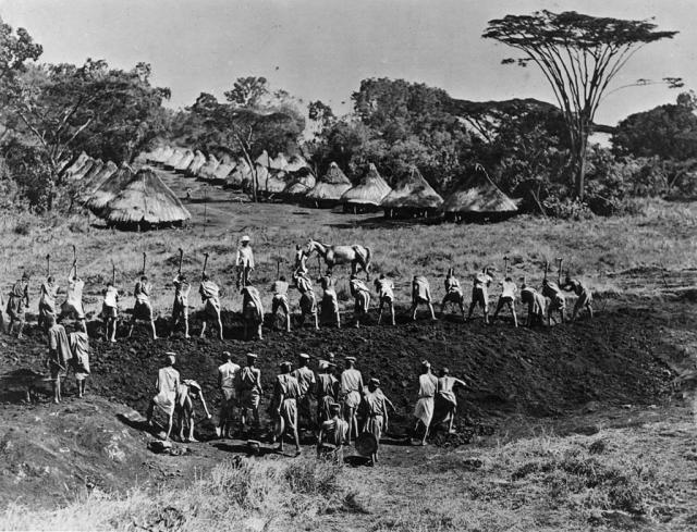 Izgradnja pruge u Keniji oko 1890. godine (GettyImages)