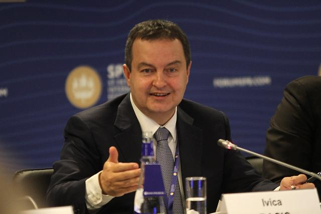 Dacic is seen in St. Petersburg on Thursday (Tanjug)