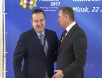 Dacic is seen with Belarus FM Vladimir Makei (Tanjug)