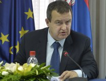 Dacic is seen in Belgrade on Monday (Tanjug)