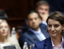 Ana Brnabic is seen in the Assembly on Wednesday (Tanjug)