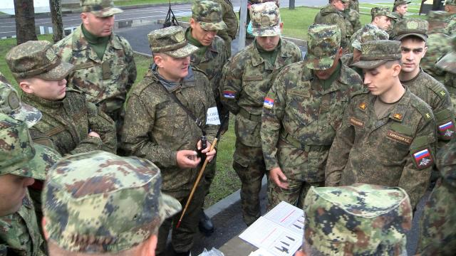 Serbian and Russian soldiers are seen during the exercise (mod.gov.rs)