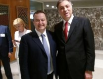 Dacic is seen with Montenegrin President Filip Vujanovic (Tanjug)