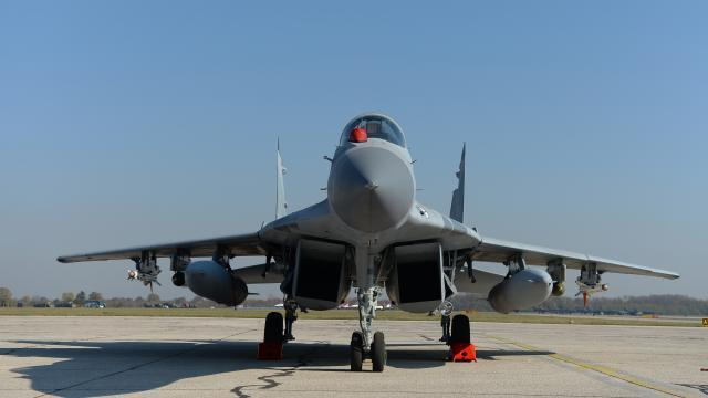 One of the MiG-29s donated by Russia, now in service in the Serbian Air Force (Tanjug)