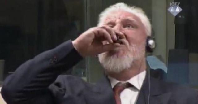 Yugoslavian war criminal 'takes poison' to end hearing at United Nations  court