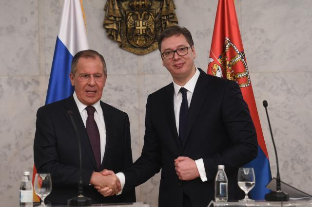 Serbian President and Russian FM Attend Solemn Ceremony