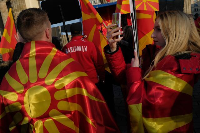 Macedonians protest name change