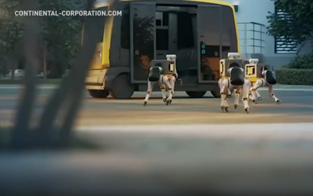 Armija-pasa-robota-dostavlja-vam-paket-iz-vozila-bez-vozaca-VIDEO