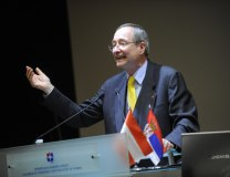 Christoph Leitl speaks at the Serbian Chamber of Commerce and Industry (Tanjug, file)