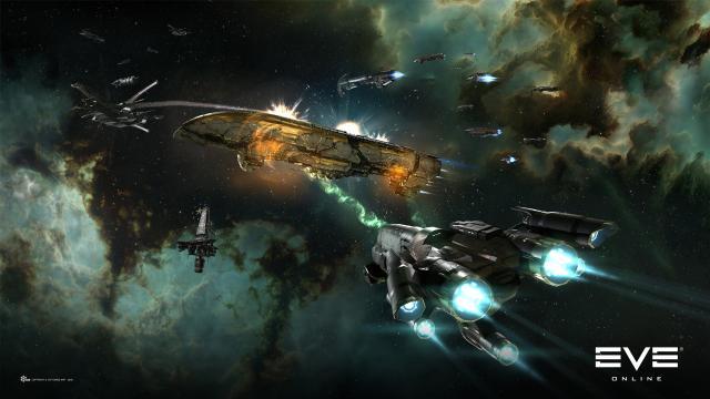 戦闘中の宇宙船画像