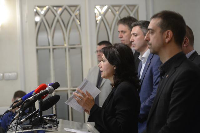 Sanda Raskovic-Ivic addresses the news conference on Friday (Tanjug)