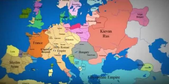 istorijska karta sveta Kako su se granice Evrope menjale u poslednjih 1000 godina /VIDEO  istorijska karta sveta