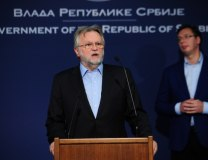 Vujovic and Vucic address the news conference (Tanjug)
