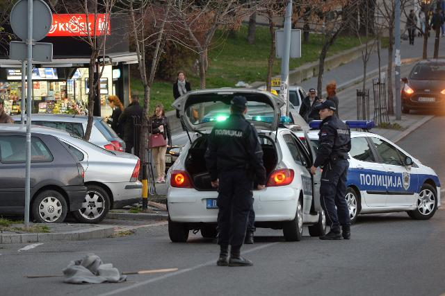 Police at the scene of Monday's deadly incident in Belgrade (Tanjug)