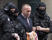 Haradinaj is escorted by the French police (Tanjug/AP, file)