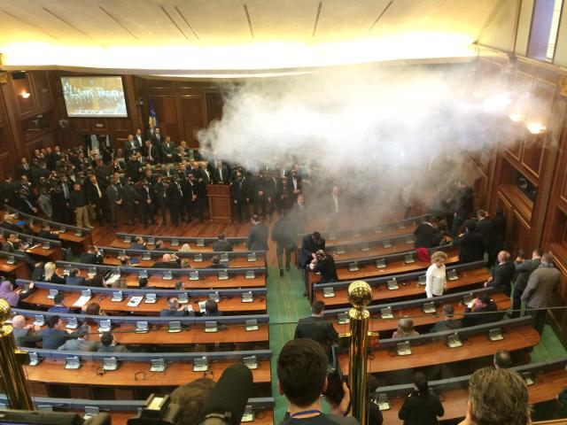One of the tear gas incidents in the Kosovo Assembly in 2016 (Tanjug, file)