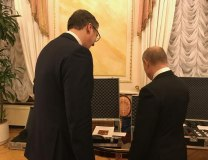 Vucic is seen with Putin in the Kremlin during his recent visit to Russia (Tanjug, file)