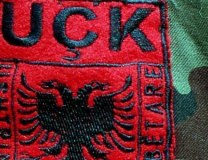 KLA insignia with its Albanian language initials, 'UCK' (Getty Images, file, illustration purposes)