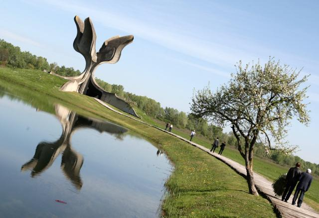 The Jasenovac memorial at the site of the former death camp (Tanjug, file)