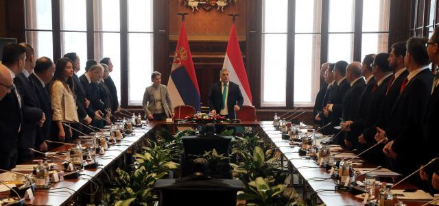 The joint session of Serbian and Hungarian governments (Tanjug)