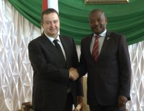 Ivica Dacic is seen with Pierre Nkurunziza (Serbian MFA)