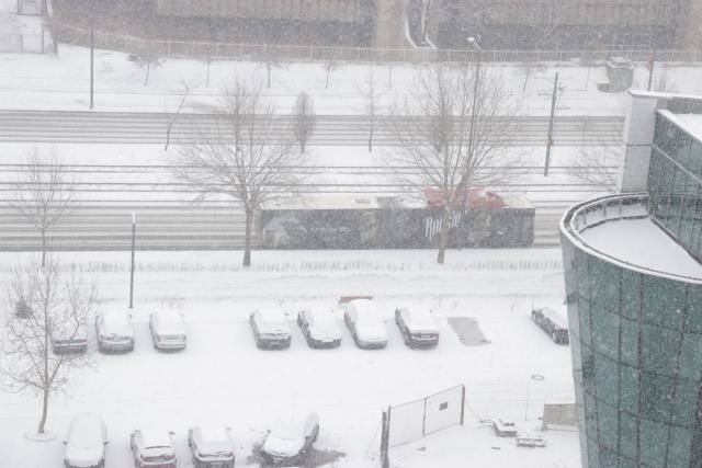 Sneg u Sarajevu (Foto: Tanjug/Fena)