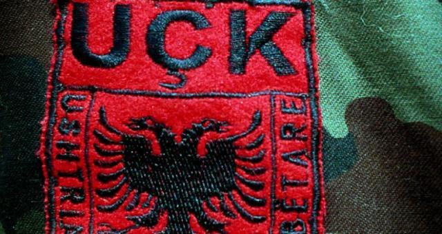 Albanian language emblem of the KLA ('UCK') (Getty Images, file)