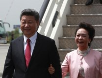 Xi and his wife Peng Liyuan arrive in Belgrade in June 2016 (Tanjug, file)
