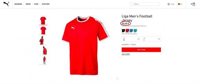 Foto: Screenshot (eu.puma.com)