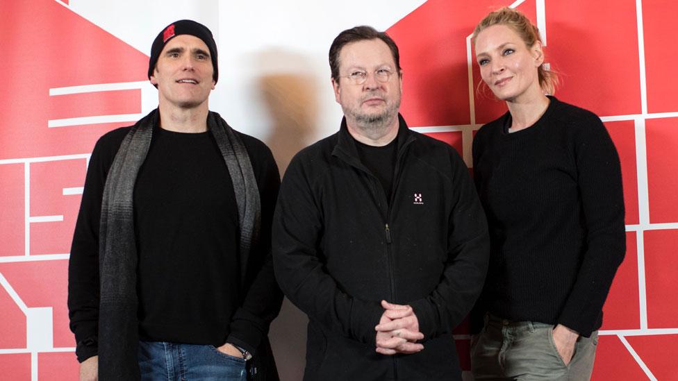 Sa leva na desno: Met Dilon, Lars fon Trier i Uma Turman/Getty Images
