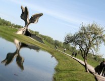 The site of the former Jasenovac death camp on the left bank of the Sava in Croatia (Tanjug, file)