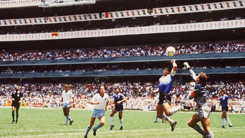 Maradonin gol protiv Engleske 1986, popularna &Božija ruka&/Getty Images