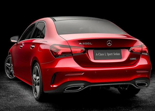 Produženi Mercedes A klase Sedan za Kinu