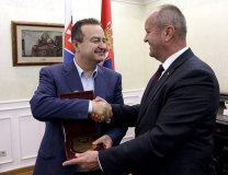 Dacic and Gajdos are seen in Belgrade on Friday (mfa.gov.rs)